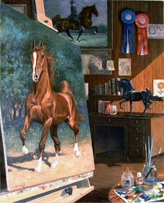 WORK IN PROGRESS by Jeanne Newton | American Saddlebred Museum 2006 Auction