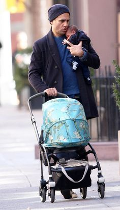 'Vinyl' star Bobby Cannavale steps out with month-old son Rocco in NYC