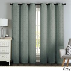Lawrence Grommet Textured Geometric Jacquard Curtain Panel Pair