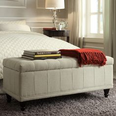 TRIBECCA HOME Tufted Storage Bench | Overstock™ Shopping - Great Deals on Inspire Q Benches