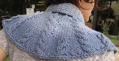 Claire's Cabled Capelet by Annie Modesitt  -  backview 2 of 2