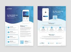 Buy Mobile App – Brochures Bundle Print Templates 5 in 1 by artbart on GraphicRiver. Mobile App – Brochures Bundle Print Templates 5 in 1 designed for use in many businesses. You can use this templates . Blank Business Cards, Professional Business Cards, Presentation App, App Promotion, Photoshop Shapes, Graphic Design Flyer, App Design Inspiration, Phone Mockup, Print Templates