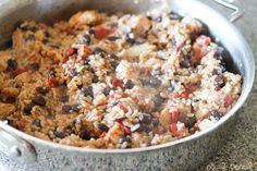 One-Pan Chicken Burrito Bowls
