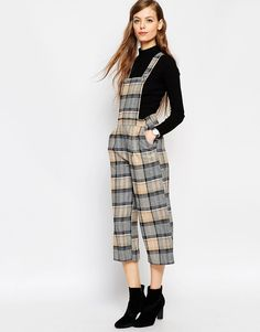 ASOS+Tailored+Dungaree+in+Check