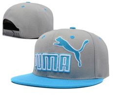4f1bc65449c Puma Snapback Hats Grey Blue 0550! Only  8.90USD