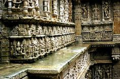 Exquisite sculptures from Rani Ki Vav, Patan(Gujrat) Dated: ~11th century CE Rani-ki-Vav, a magnificent step well, at Patan is said to been constructed by Queen Udayamati wife of King Bhimadeva I (A.D. 1022-1063). This is the highest watermark of Solanki architecture. It is 64 m long and 20 m wide. It was originally constructed of seven stories of which only five are now preserved. The shaft of this step well is 27 m deep. The step is oriented in east-west directions. The ste...p well has…