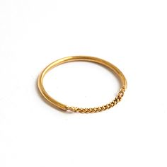 Enchainment ring - minimal simple handmade ring, silver gold plated jewelry Minimal Jewelry, Minimalism, Plating, Simple, Bracelets, Silver, Gold, Handmade, Ring