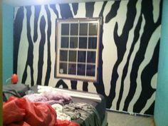 Zebra wall idea