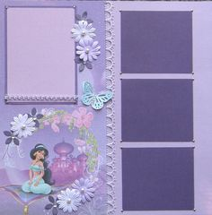 12x12 double page scrapbook layout Disney's Princess by ntvimage
