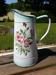 GRAND PICHET EMAILLE pot french enamel no cafetière JAPY エナメルのジャー
