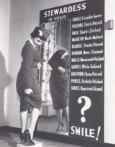 """Stewardess"" grooming check."