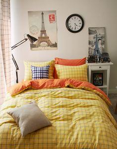 Monaco Yellow Bedding Scandinavian Design Bedding Teen Bedding Kids Bedding