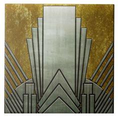 Tile - Art Deco Grey & GoldCeramic Tile - Art Deco Grey & Gold Box 2 – Art Deco — Blueberry Cove Beads Art Deco Design Elements 31 Art Deco Design Elements Decoration Pillow Cover Scandinavian Pillow Cover Yellow and Arte Art Deco, Estilo Art Deco, Art Deco Era, 1920s Art Deco, Art Deco Decor, Art Deco Artists, Art Deco Period, Art Nouveau, Interiores Art Deco