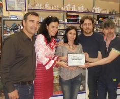 Aquí estamos con el actor Nacho Guerreros, la concejala de comercio de Alicante Belén González y el director del festival de cine Vicente Seva
