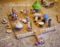 Diy cardboard playground for littlest pet shop