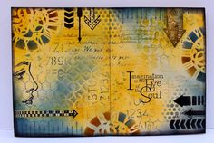 "Welcome to the latest challenge celebrating Tim Holtz's book, the Compendium of Curiosities, Volume 3.  The new theme focuses on ""Layering Stencils - Embossing"" (found on page 50 of the book – if y..."