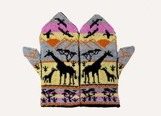 Ravelry: Project Gallery for Giraffes at Sunset Mittens pattern by Erica Mount