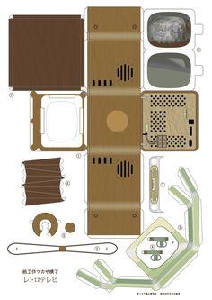 Bilderesultat for paper furniture Dollhouse Toys, Modern Dollhouse, Dollhouse Furniture, Dollhouse Miniatures, Paper Doll House, Paper Houses, Diy Paper, Paper Crafts, Paper Furniture