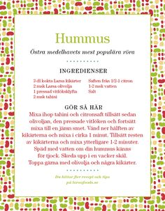 We think we have discovered the best hummus recipe ever!