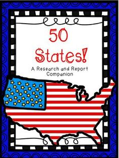 States Report Research and Capitals - Photo Teaching Activities, Teaching Resources, 5th Grade Ela, Community Workers, States And Capitals, Report Writing, Matching Cards, Restaurant, Border Design