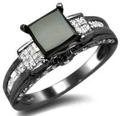 Black Diamond engagement ring!