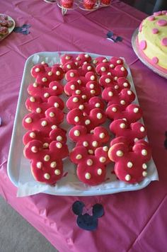 Minnie Mouse Party biscuits by Angel Foods