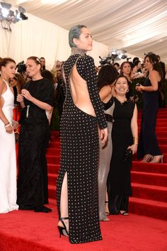 Pin for Later: As Usual, Miley Cyrus Sexes It Up at the Met Gala