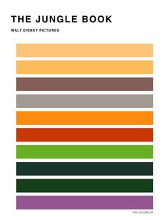 This is the color scheme from The Jungle Book.