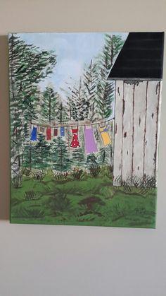 Clothes line Clothes Line, Painting, Art, Art Background, Painting Art, Paintings, Kunst, Drawings, Art Education