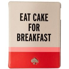 Kate Spade New York Eat Cake For Breakfast Hardcase Tablet Folio (1 180 ZAR) ❤ liked on Polyvore featuring accessories, tech accessories, multi and kate spade