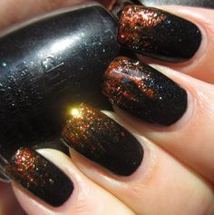 Girl on Fire Manicure (Smoke & Ashes, Riveting, & Electrify)