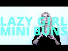 VIDEO: LAZY GIRL MINI BUNS [3 STYLES] #hairtutorial