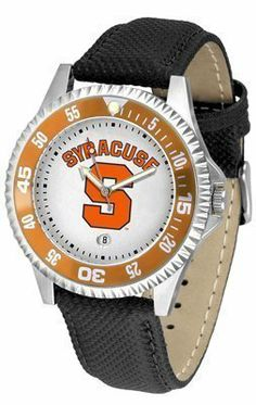 Syracuse Orangemen Suntime Competitor Poly/Leather Band Watch - NCAA College Athletics by SunTime. $58.95. Poly/Leather Band. Officially Licensed Syracuse Orange Men's Leather Sports Watch. Men. Adjustable Band. Date Calendar And Rotating Bezel. Quality Timepiece for your favorite fan!
