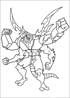 Ben 10 The Combined Changes Coloring Pages For Kids