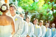 Wedding photo: a pic like this each way (one of the groom's face and groomsmen and one of of bride and bridesmaids)