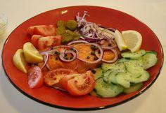 Carole's Chatter: Smoked salmon salad platter, potato wedges and corn