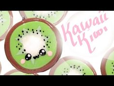 Kawaii Kiwi Charm Polymer Clay Tutorial