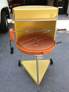 Vintage Retro Atomic BBQ Grill Never Used with Box Amazing | eBay