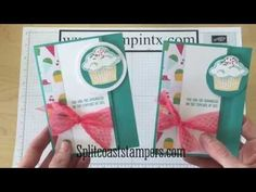 Latch Card Tutorial using Stampin' Up! Sprinkles of Life - YouTube