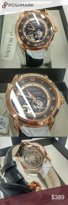 NWT $550 Bulova Automatic Rose-Gold watch Nwt Bulova 21 Jewel Automatic Movement Rose-Gold Leather Strap Watch   FIRM PRICE FIRM PRICE FIRM PRICE FIRM PRICE FIRM PRICE   $389.00 . AUTHENTIC WATCH  . AUTHENTIC BOX  . AUTHENTIC MANUAL    SHIPPING  PLEASE ALLOW FEW BUSINESS DAYS FOR ME TO SHIPPED IT OFF.I HAVE TO GET IT FROM MY WAREHOUSE.    THANK YOU FOR YOUR UNDERSTANDING. Bulova  Accessories Watches Authentic Watches, Rose Gold Watches, Bulova, Gold Leather, Rolex Watches, Warehouse, Manual, 21st, Jewels