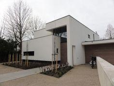 Prachtig huis met dynamiek in volumes en top gevelsteen wonen exterior pinterest - Huis modern kubus ...