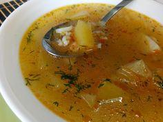 Hellena  ...din bucataria mea...: Ciorba cu dovlecel si orez - de post Supe, I Foods, Thai Red Curry, Soup Recipes, Ethnic Recipes