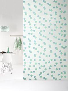 Behang Confetti Greenblue