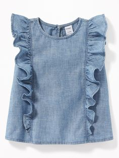 Ruffled Chambray Sleeveless Top for Baby | Old Navy