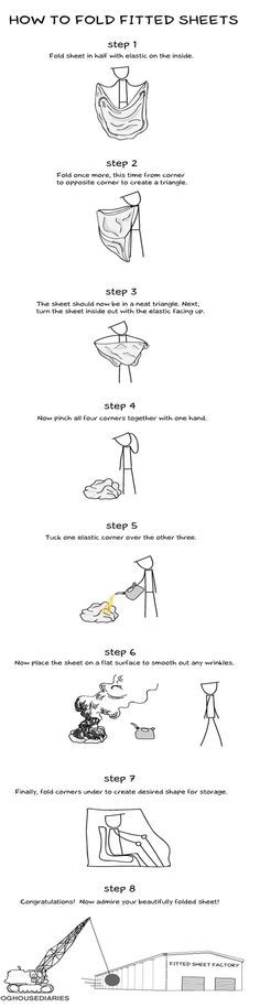 How to fold fitted sheets if your name is Shawn.