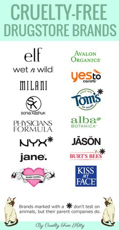 Partial list of cruelty-free drugstore makeup brands - good info to know! #crueltyfree #crueltyfreebeauty