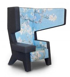 Prooff's #001 EarChair designed by Jurgen Bey and in cooperation with Van Gogh museum for limited edition chair with choice of 4 Van Gogh masterpieces.
