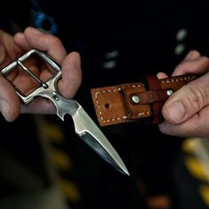 hidden belt buckle Knife. Now i would use that!