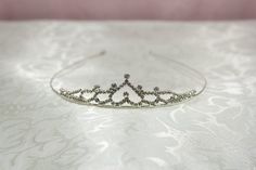 Bridal Crystal Tiara with Upside Down Heart Center