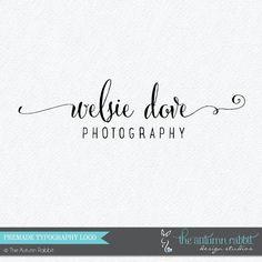 Premade Photography Watermark Logo Design - Typography logo design - Photography Watermark - Logo Watermark - Business Branding